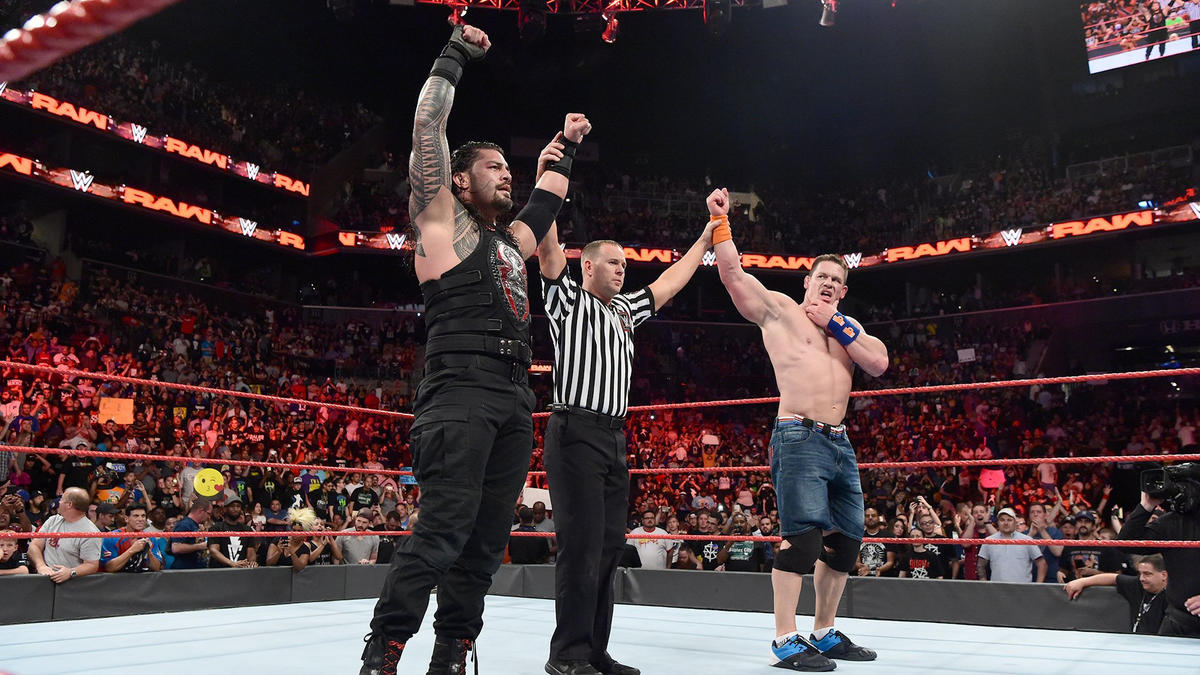 Cena & Reigns are victorious...