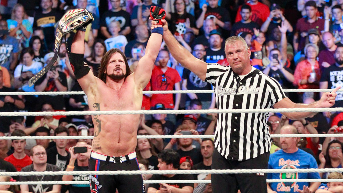 AJ Styles picks up the victory and retains the United States Championship.