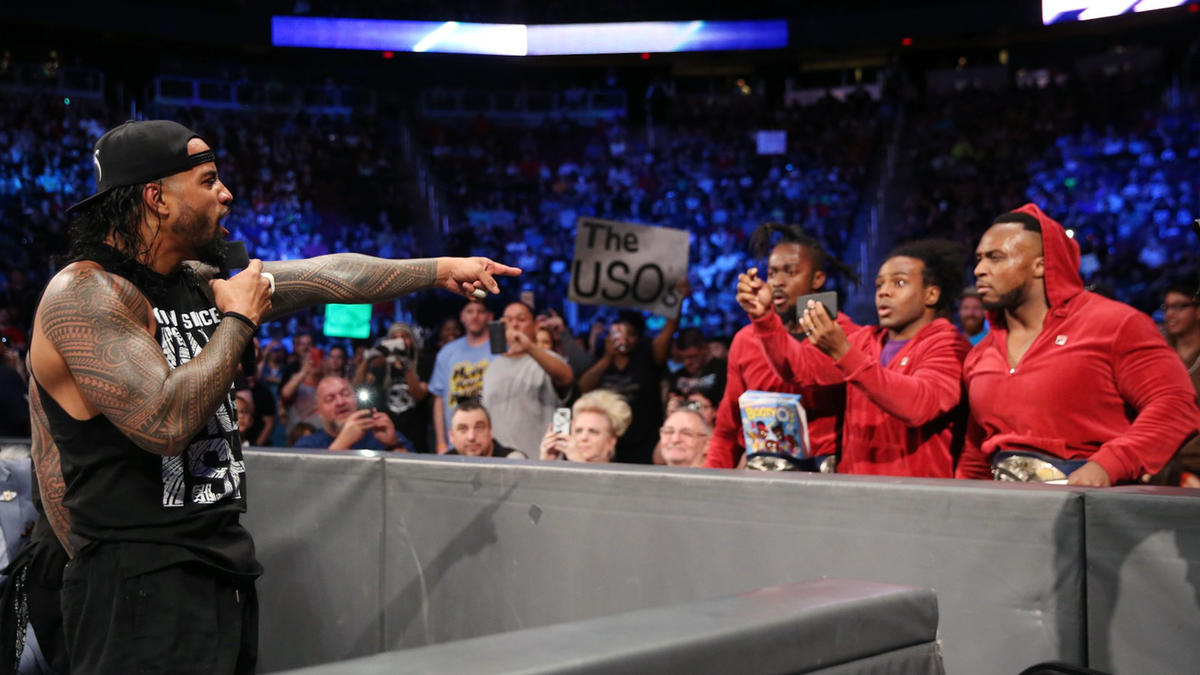 The Usos chastise The New Day for treating everything like a joke.
