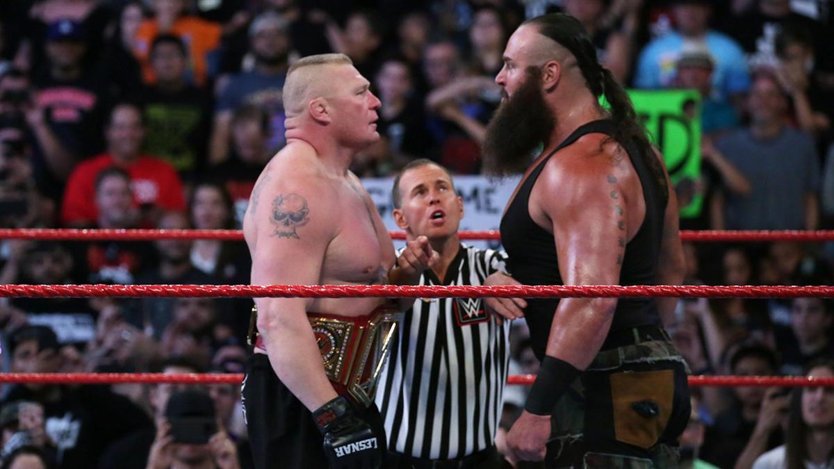 Brock Lesnar VS Braun Strowman - Universal Championship Match