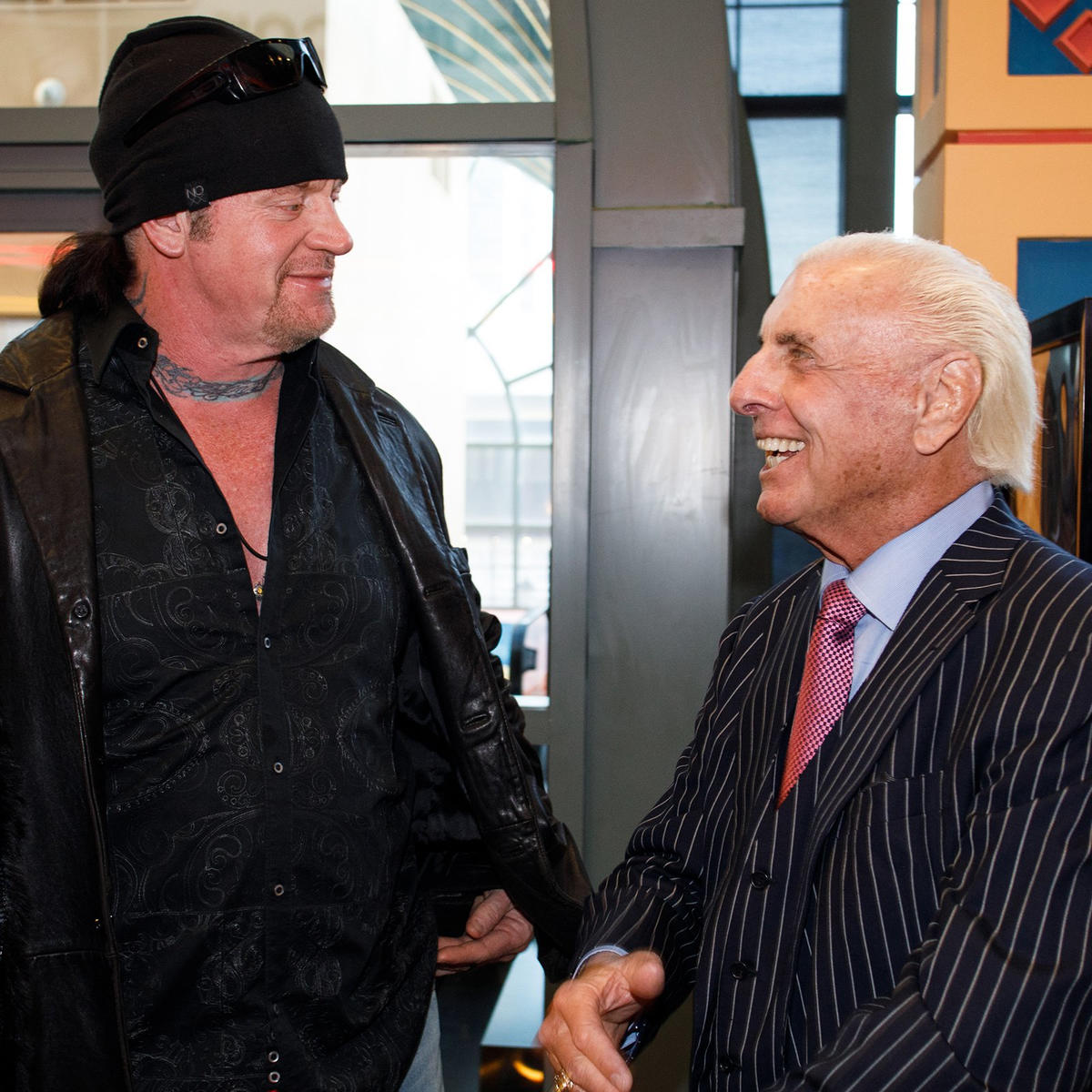 The Undertaker shows his support for the two-time WWE Hall of Famer, Ric Flair.