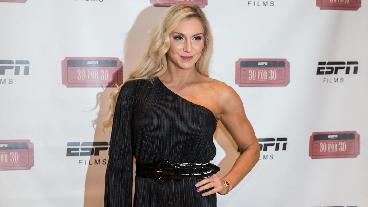 """Charlotte Flair attends the premiere of ESPN's """"30 for 30: Nature Boy."""""""