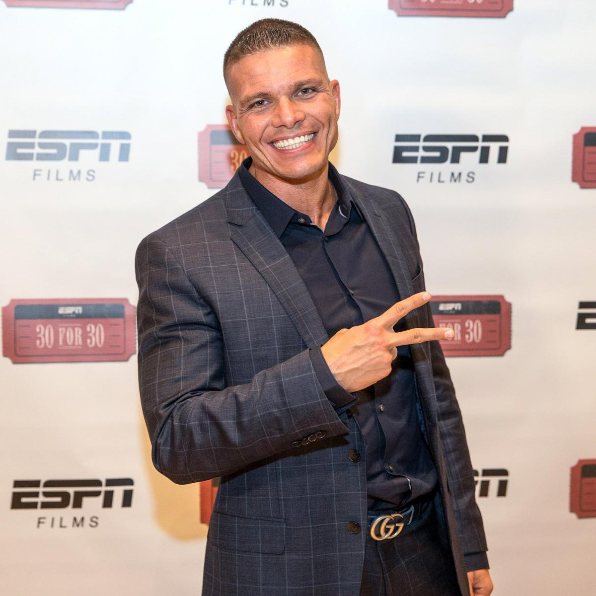 Tyson Kidd is all smiles for the premiere.
