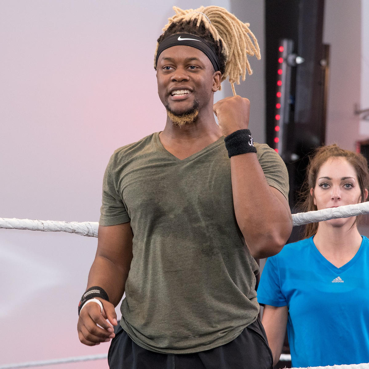 New England independent wrestler Darley Desamot is ready to conquer the in-ring drills.