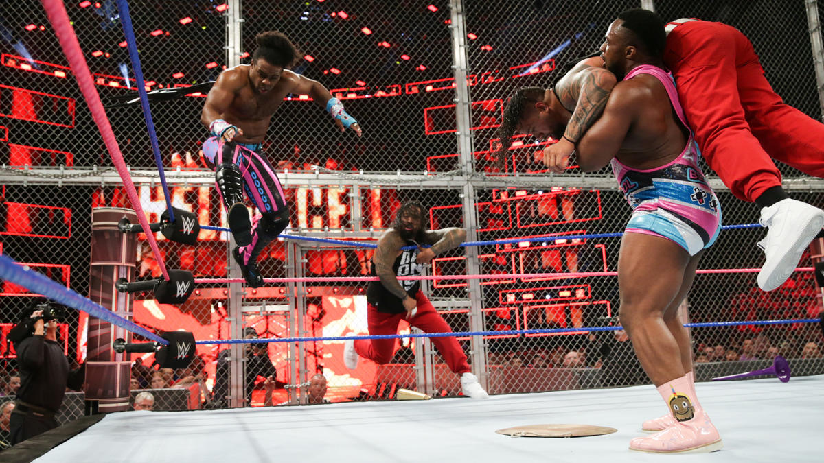 Hell in a Cell Woods Big E vs Usos