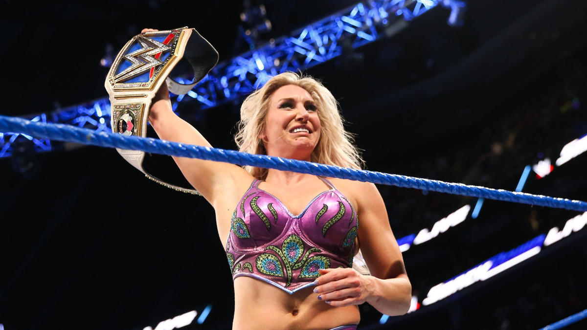 Natalya taps out, and Charlotte is the new SmackDown Women's Champion!