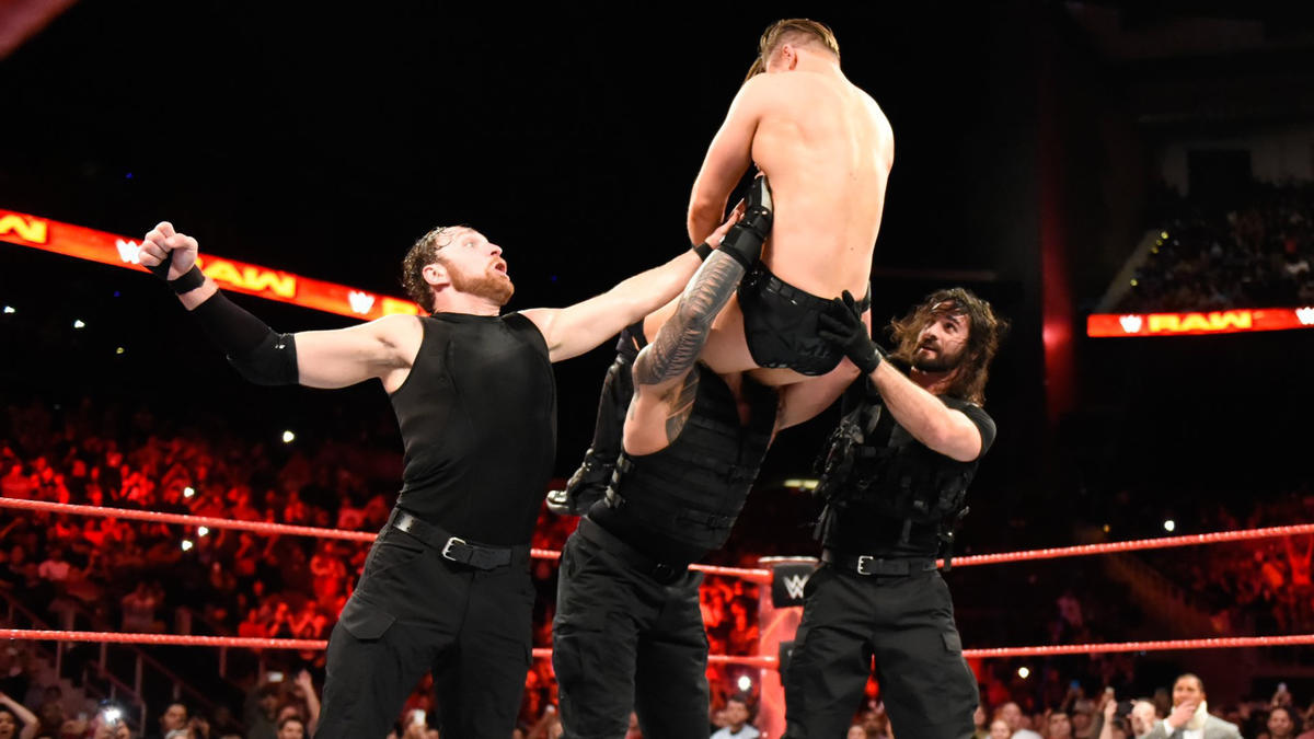 The Shield plant Miz with the bone-rattling Triple Powerbomb!