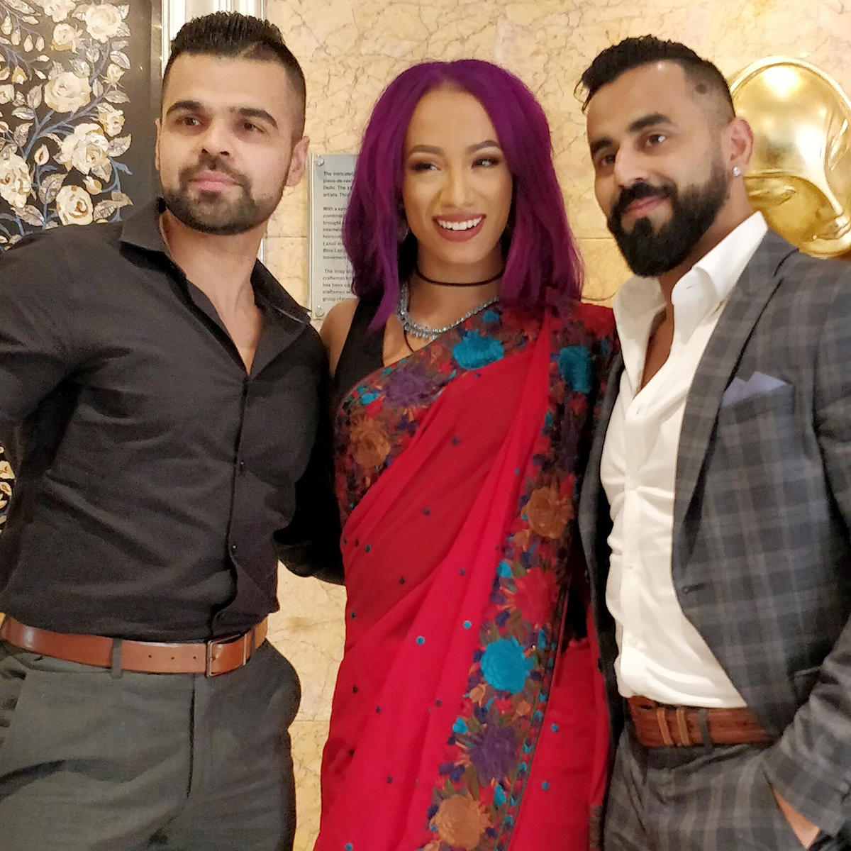Sasha Banks Wedding.New Delhi Suits Jinder Mahal Sasha Banks Alexa Bliss And The Singh