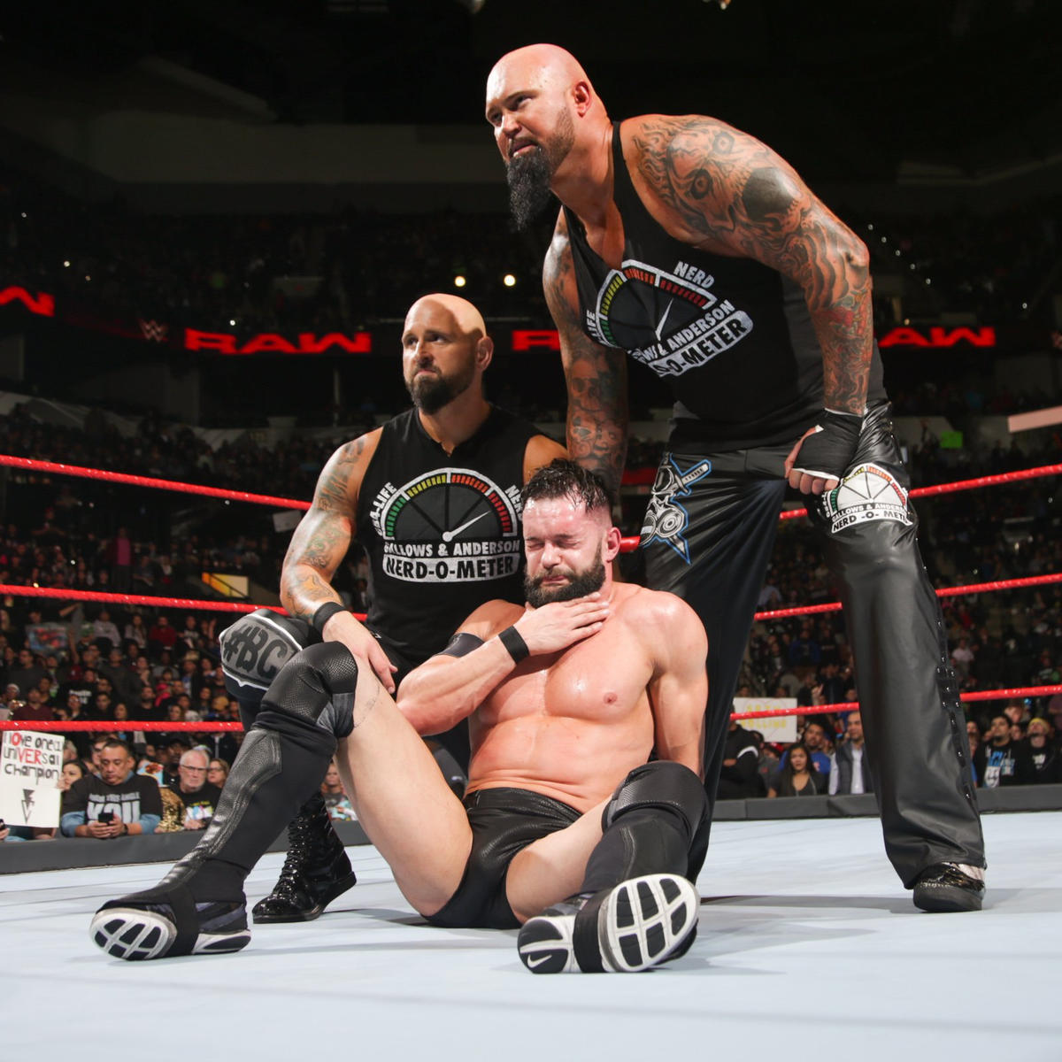 ... while Gallows & Anderson help Bálor as Raw concludes.