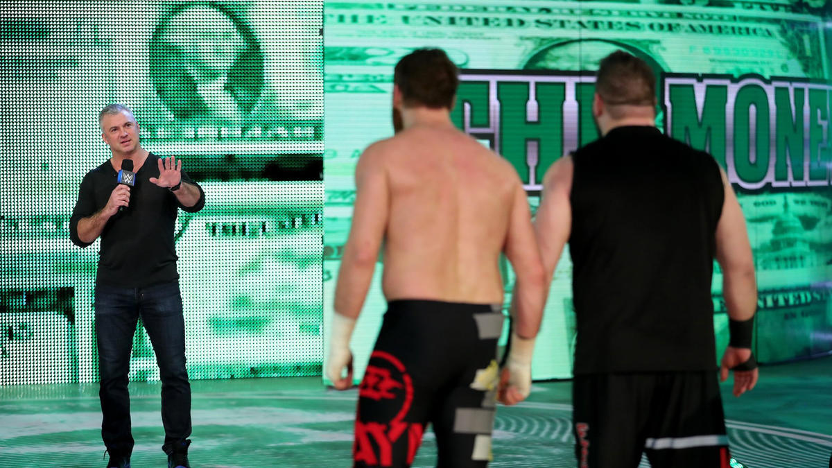 ... but Shane comes back and restarts the bout as a No Disqualification Match!