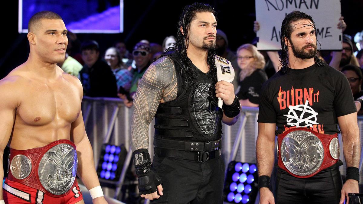 Roman Reigns, Seth Rollins & Jason Jordan vs  The Bálor Club