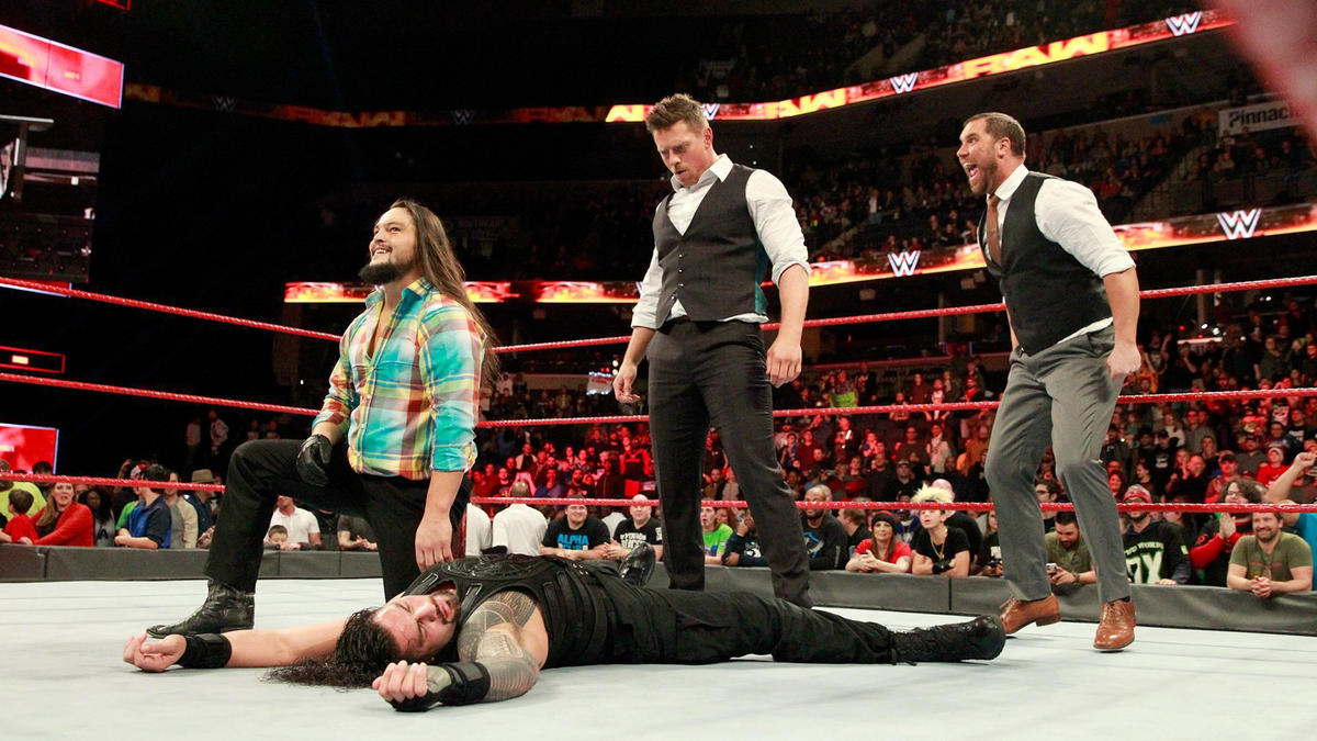 ... and the trio stands tall as Raw concludes.