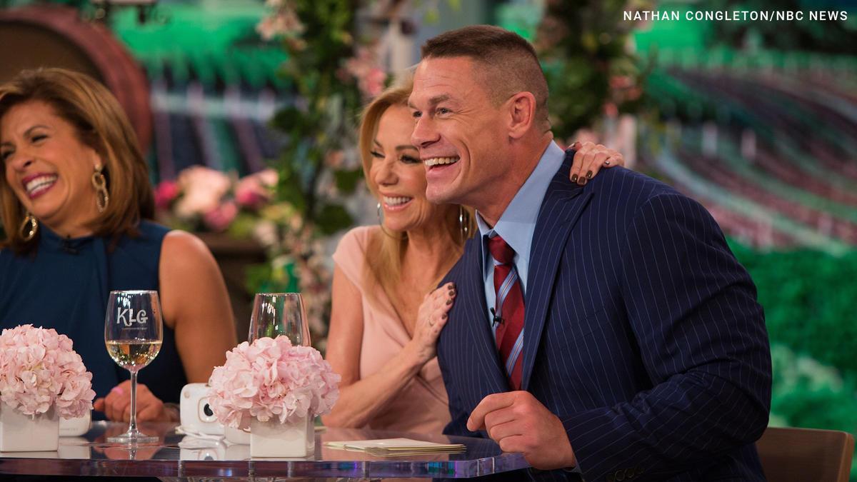 John Cena Officiates Wedding On Nbc S Today Photos Wwe