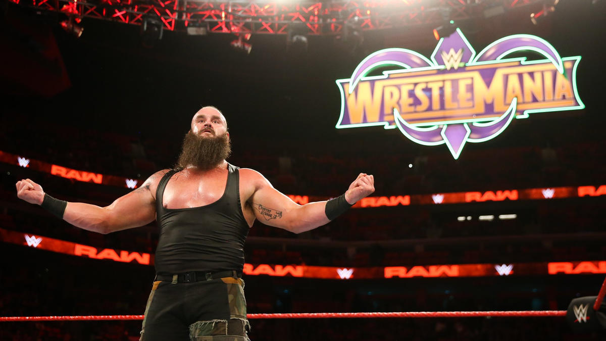 Braun Strowman wrestlemania sign