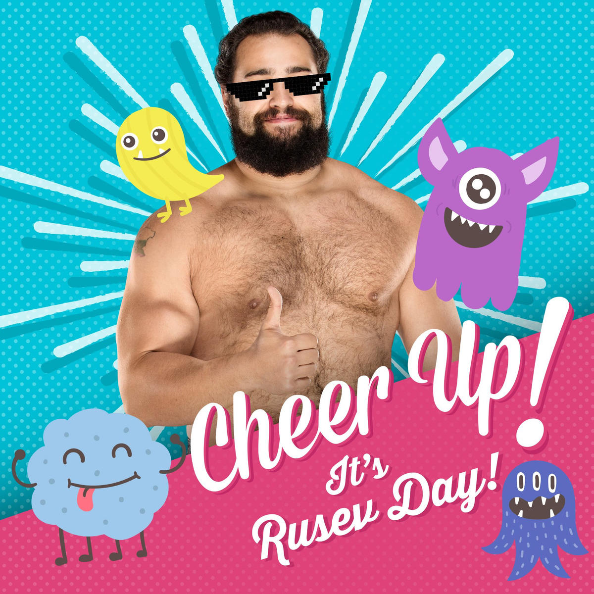 Rusev Day Greeting Cards Wwe