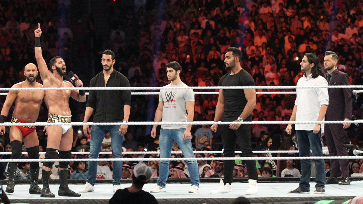 The WWE Universe inside the King Abdullah Sports City Stadium doesn't appreciate the Daivari brothers' comments.