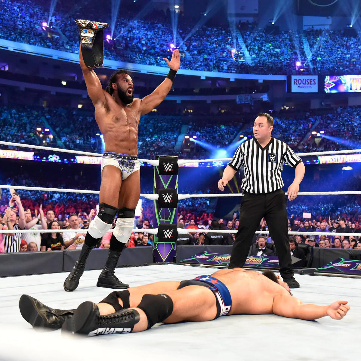Mahal claims victory and wins the United States Championship.
