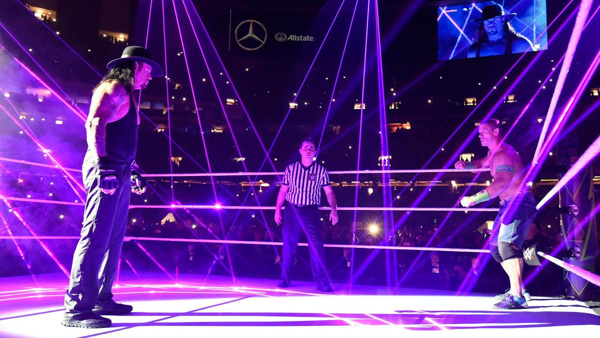 Motivo pela qual o combate entre John Cena vs. The Undertaker foi curto