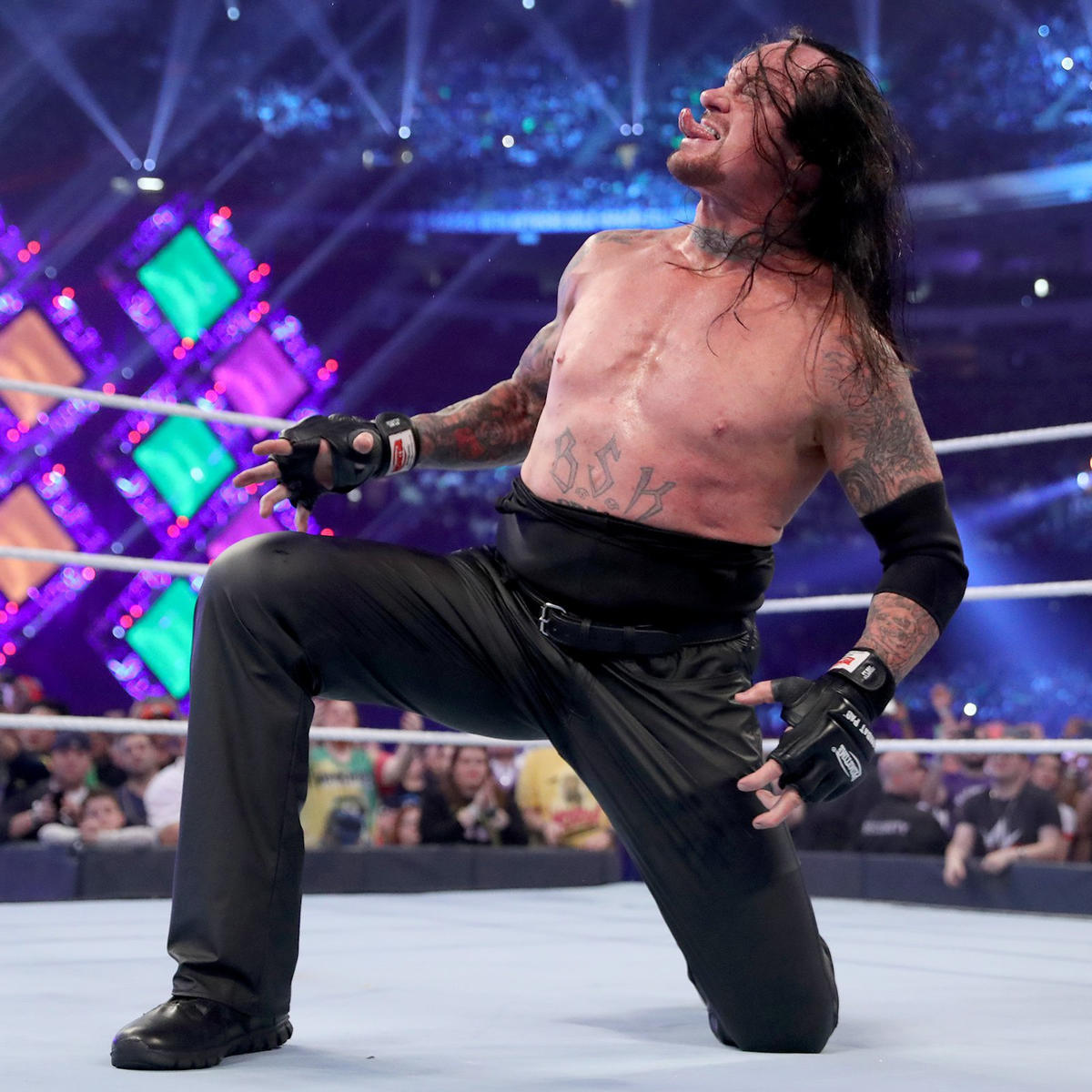 The Deadman defeats Cena on The Grandest Stage of Them All.