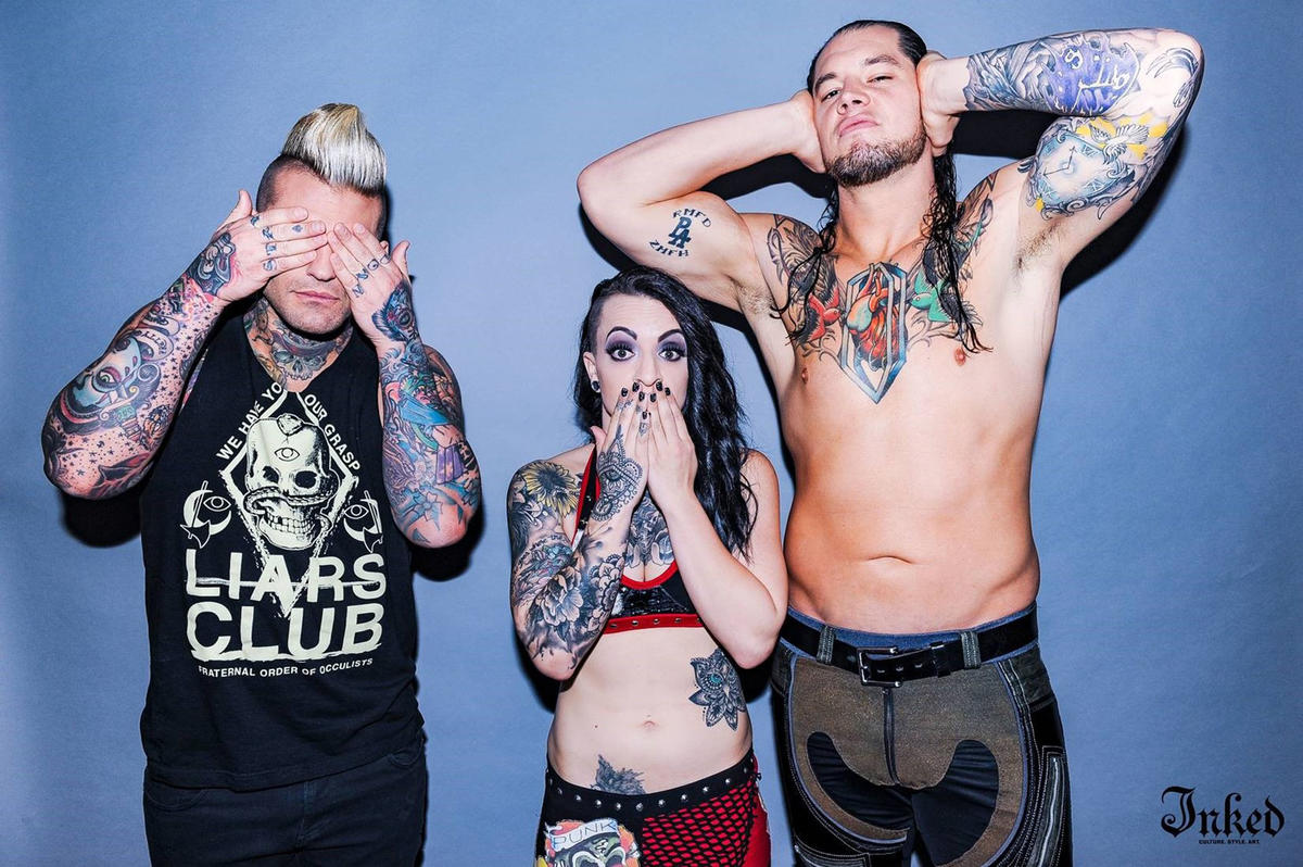 WWE Stars Ruby Riott, Baron Corbin And Corey Graves Pose For A New ...