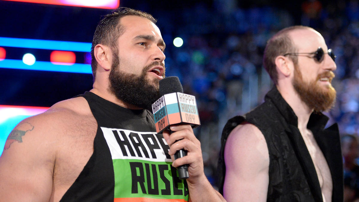 And Rusev reminds everyone that he can do whatever he wants since it's Rusev Day.