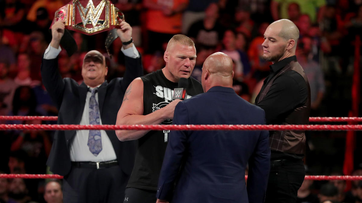 Lesnar asks if Angle has a problem with himâ¦