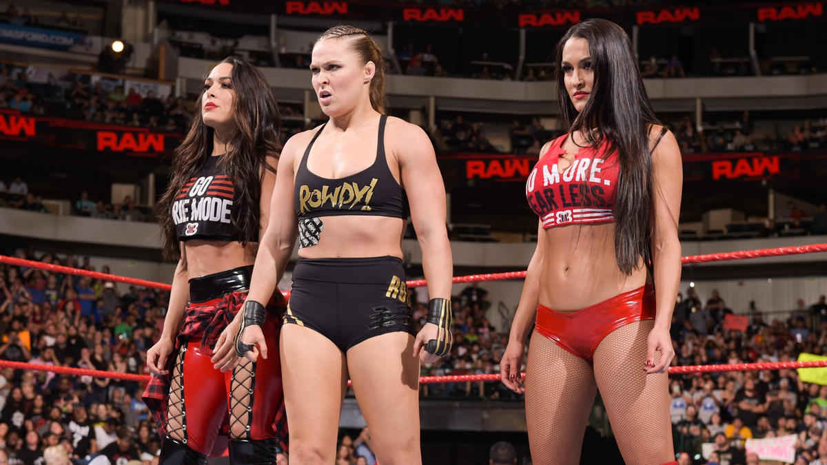 Rousey, Nikki & Brie will battle The Riott Squad at WWE Super Show-Down!