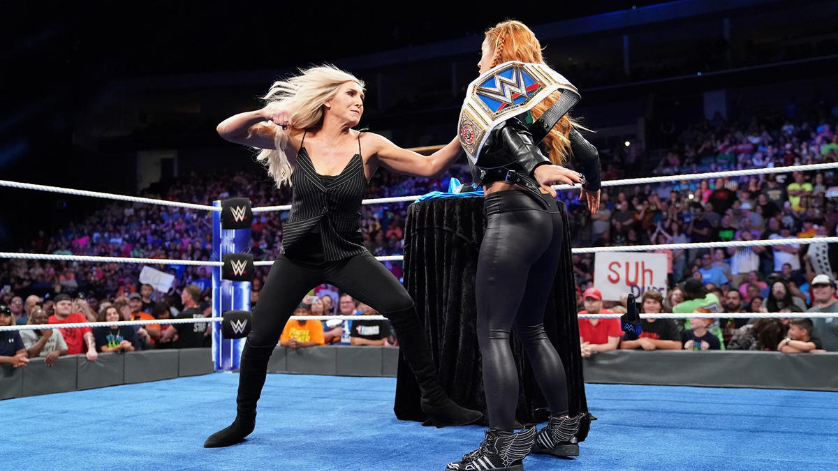 Charlotte suddenly attacks Becky!