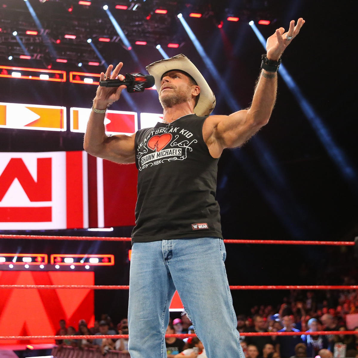The undertaker returns to confront shawn michaels photos wwe hbk is there to talk about super show down and the match between triple h m4hsunfo