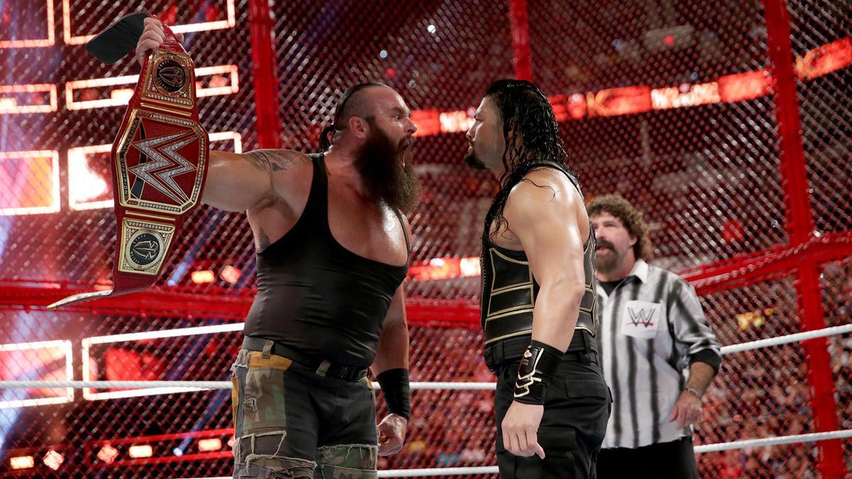 Resultado de imagen para strowman vs. reigns hell in a cell dailymotion