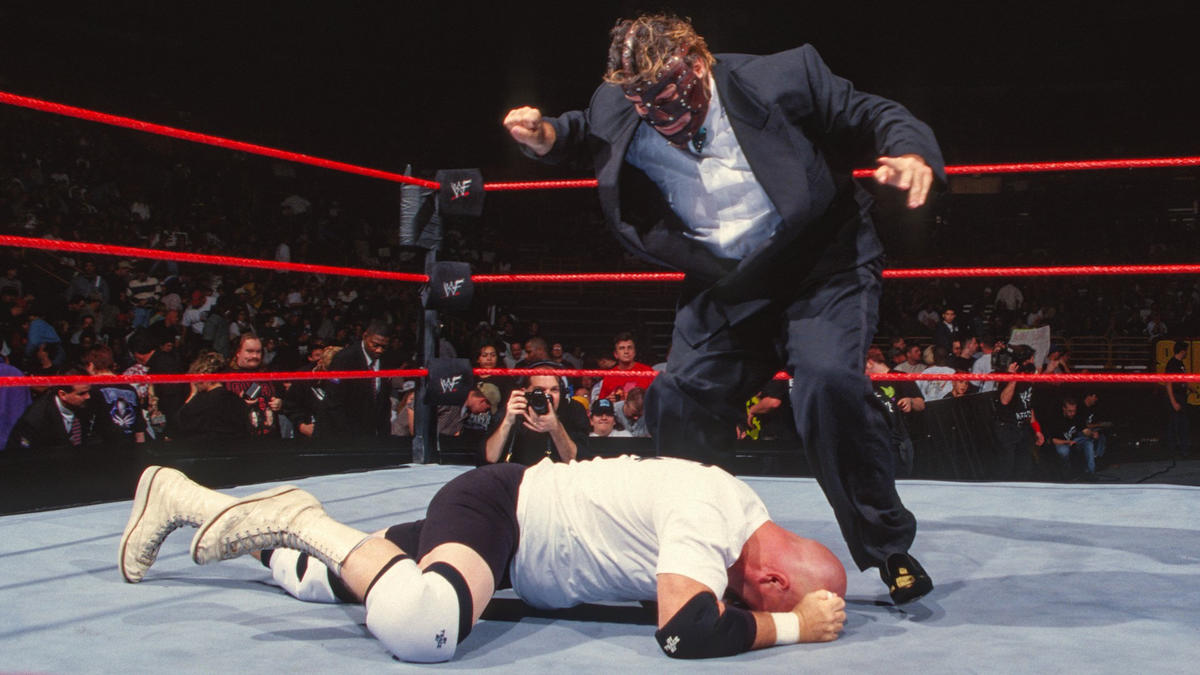 Image result for WWE Survivor Series 1998 Mankind vs Duane Gill wwe.com