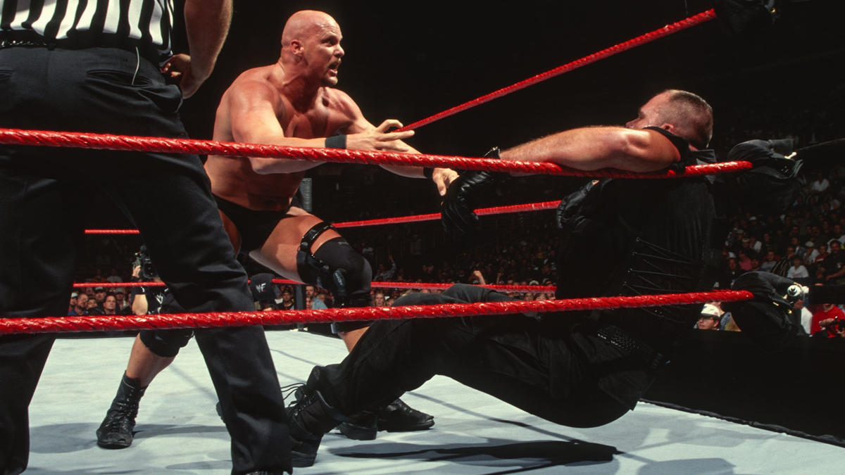 "Image result for WWE Survivor Series 1998 Big Boss Man vs ""Stone Cold"" Steve Austin wwe.com"