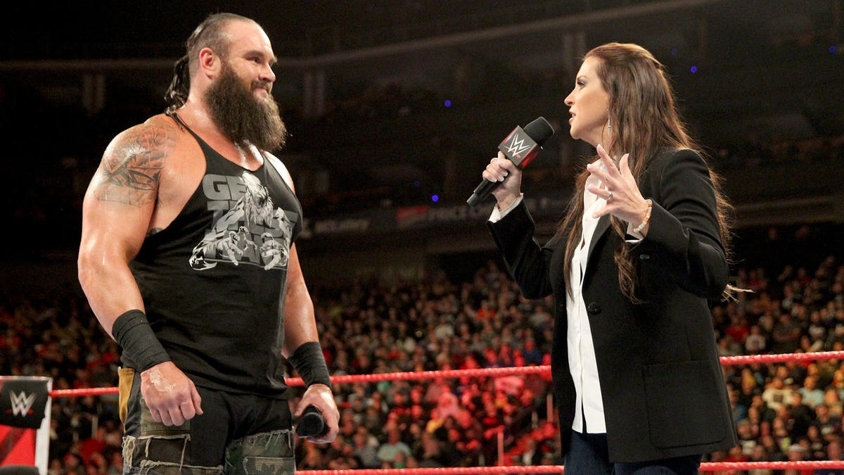 He also wants to pick the stipulations for the matches, and Stephanie agrees.