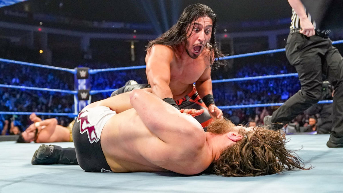 Ali pins the WWE Champion!