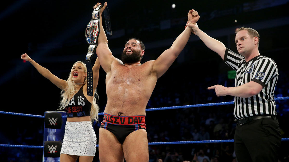 The Super Athlete wins his third United States Championship on Christmas... and on his birthday... and on Rusev Day!