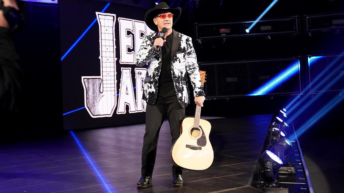 Image result for Jeff Jarrett and Road Dogg on RAW with Elias