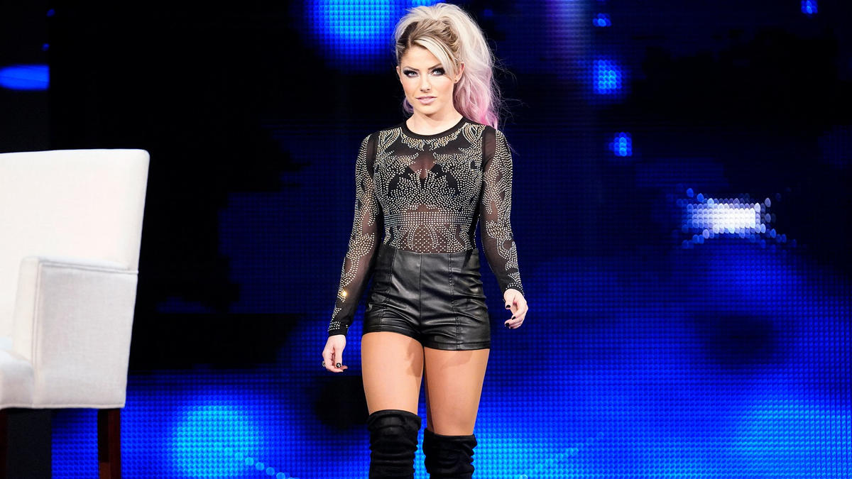"Alexa Bliss takes the stage to host ""A Moment of Bliss."""