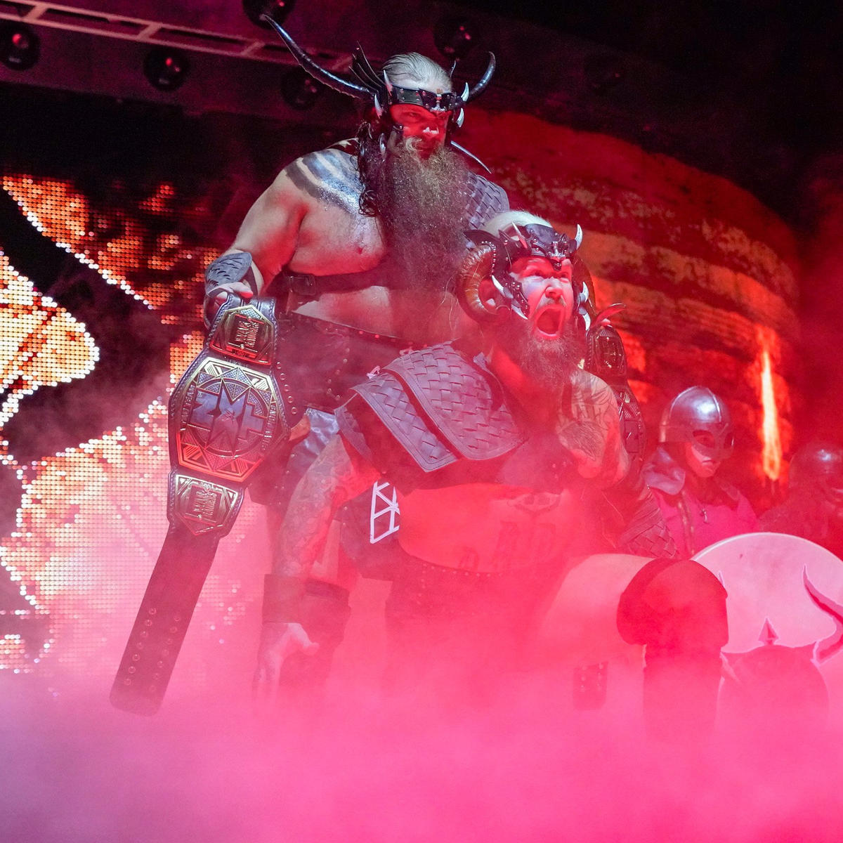NXT Tag Team Champions War Raiders make an epic TakeOver entrance.