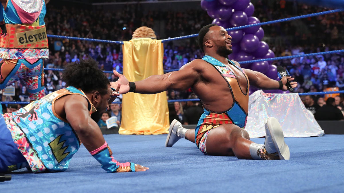 After some encouragement from the WWE Universe, Big E performs another split!