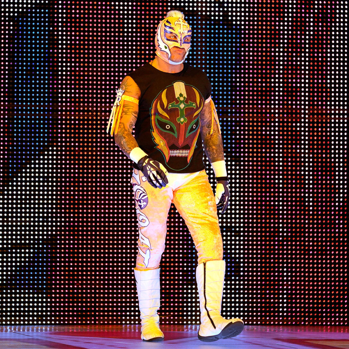Suddenly, Rey Mysterio interrupts The Living Truth!