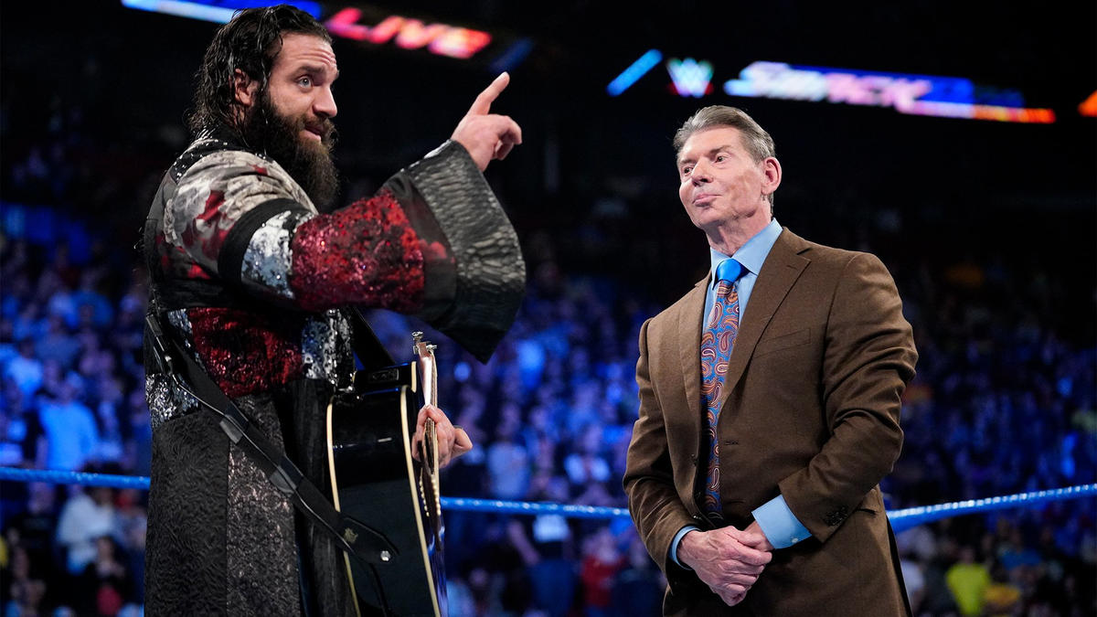 "Elias isn't happy to be on SmackDown LIVE, but he claims it will become ""The Temple of Elias."""