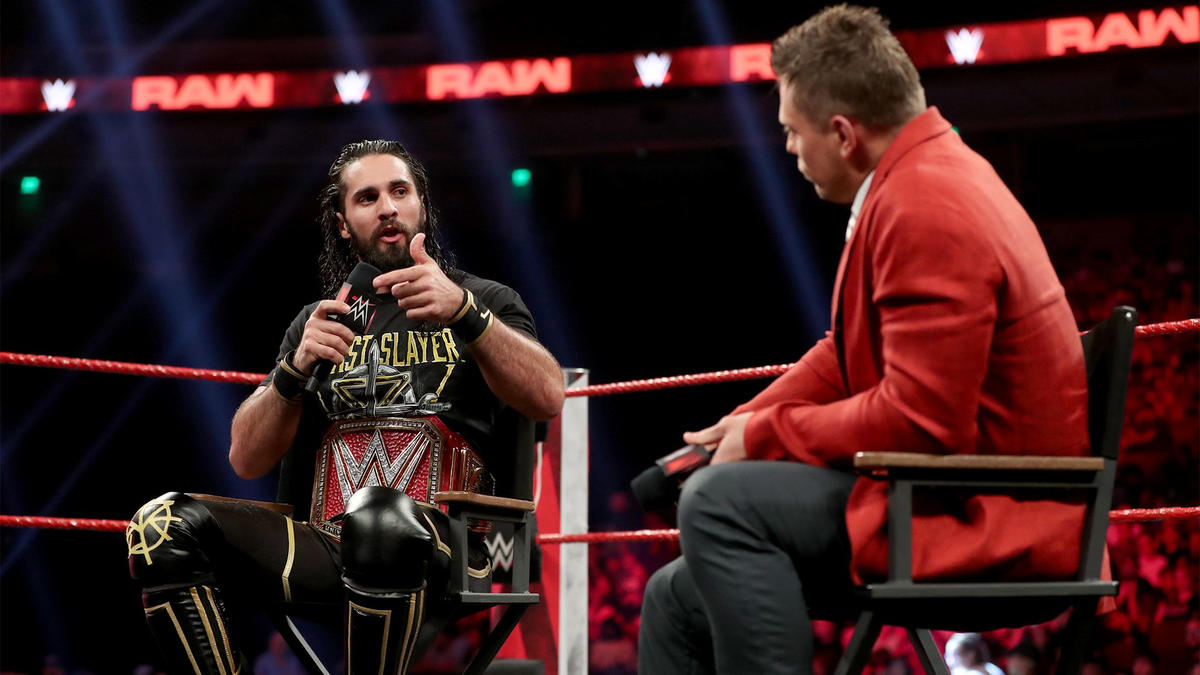 … but he's focused on defending his title against Baron Corbin this Friday and stomping his head into the mat at WWE Super ShowDown.