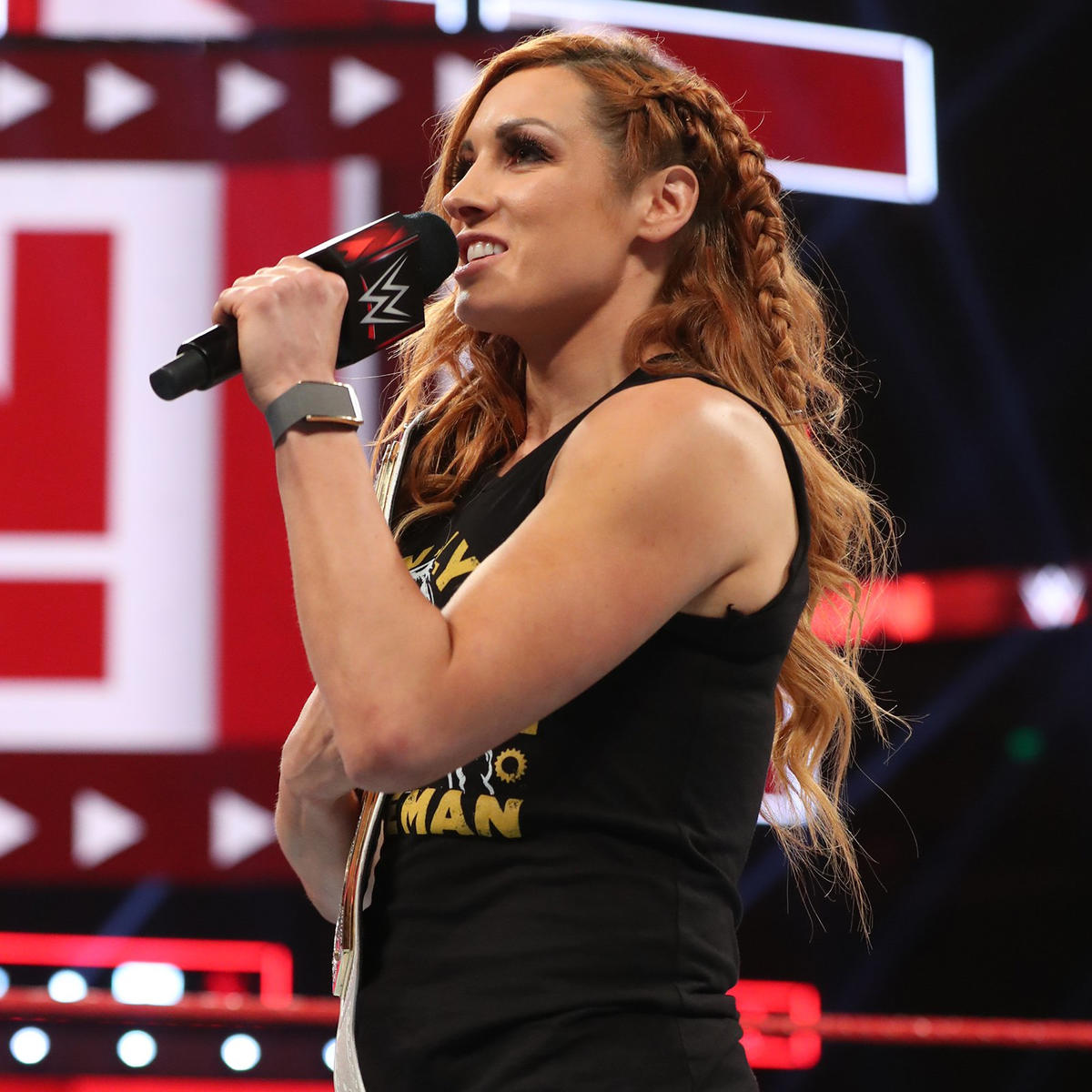 The Man knows that contentment is the worst thing that can happen to a fighter like her, and she claims that something woke up in her when Lacey Evans helped Charlotte Flair beat her for the SmackDown Women's Title at WWE Money in the Bank.