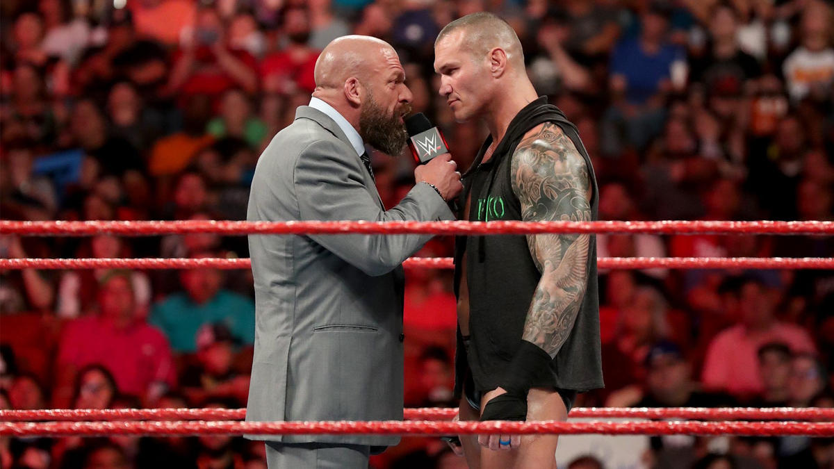 Triple H recounts their checkered history, and he compliments Orton for being one of the best ever to step into this ring.