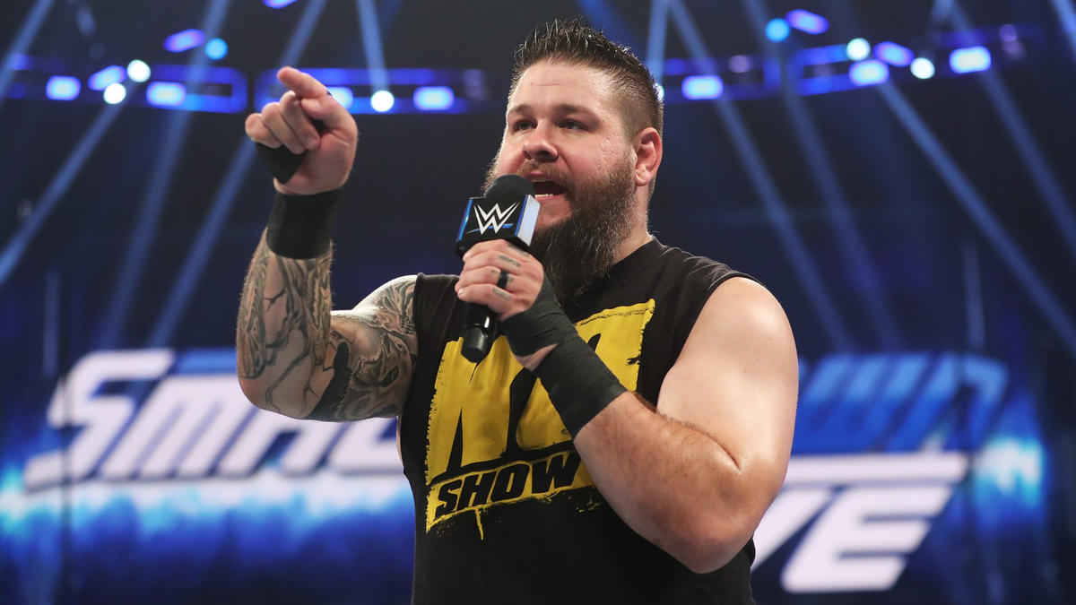 KO sarcastically states that we can all band together to get through an edition of SmackDown LIVE that doesn't include Shane McMahon.