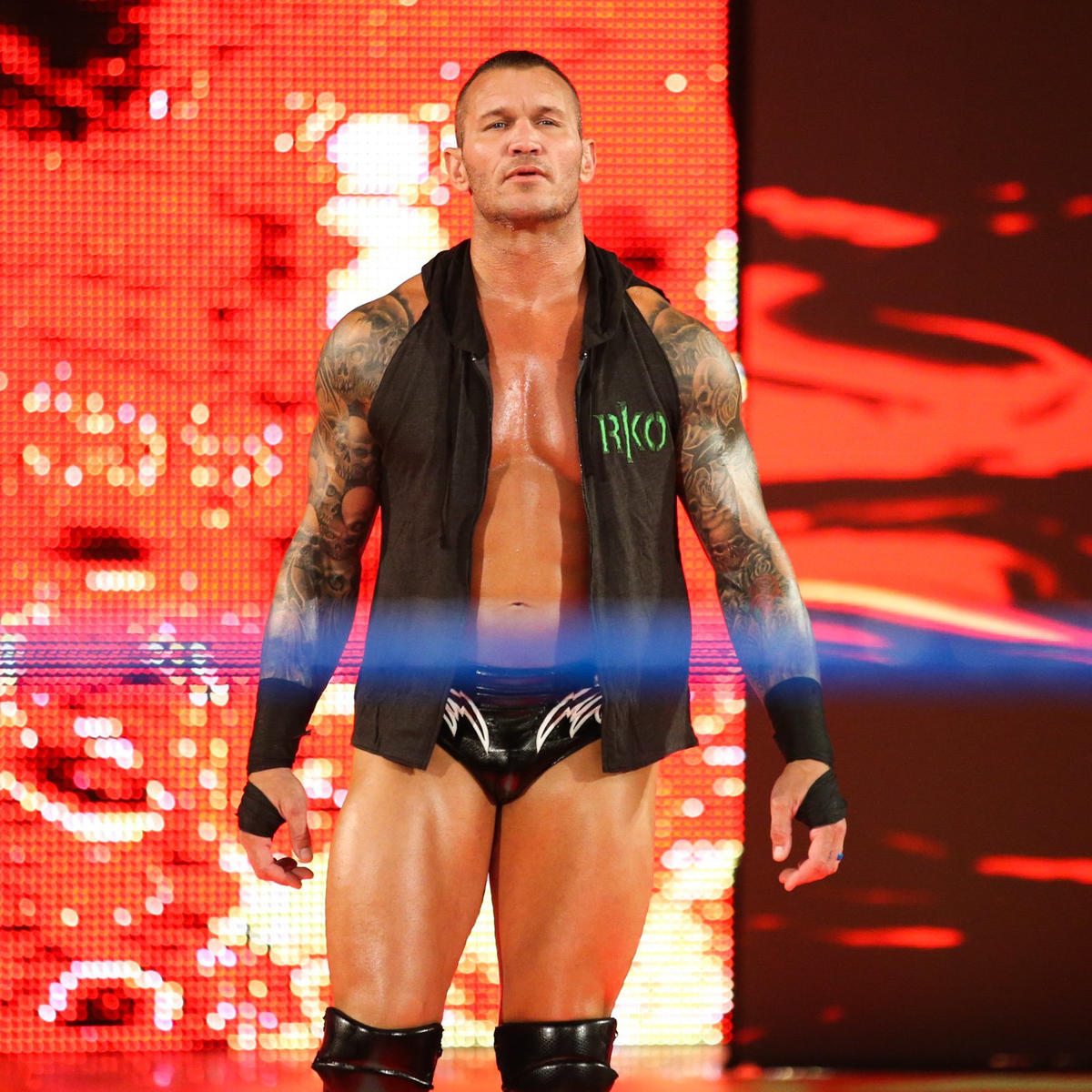 Orton, who pinned Kofi in a recent Six-Man Tag Team Match, arrives!