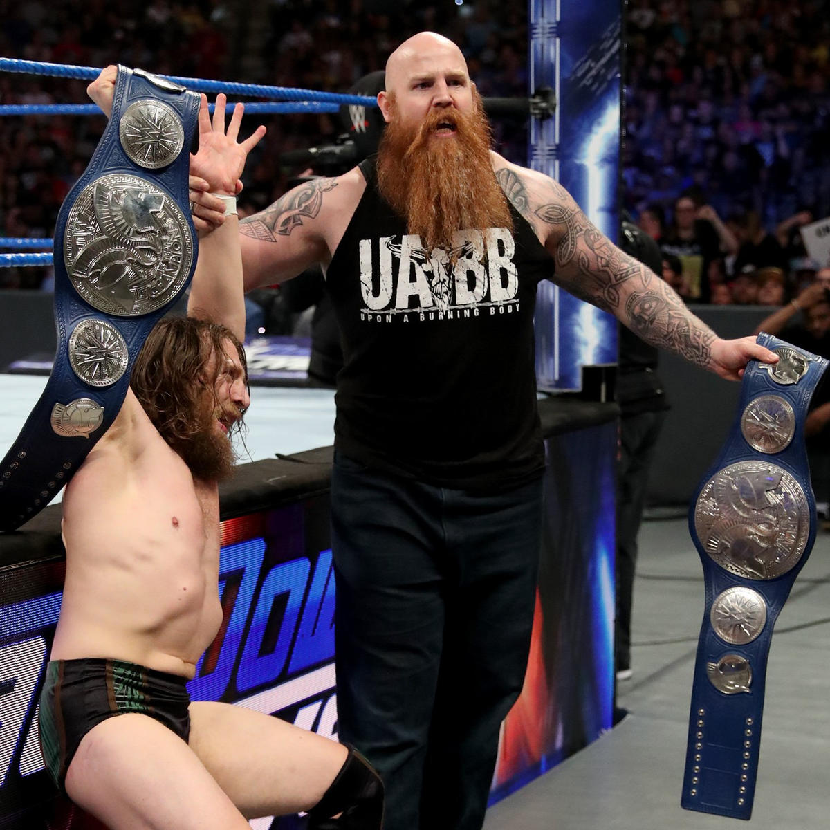 SmackDown LIVE, July 2, 2019: Texas-based heavy metal band Upon A Burning Body.