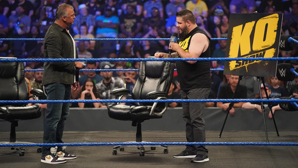 Owens says he didn't ask Shane to put his career on the line because Shane is a McMahon who can do whatever he wants anyway.