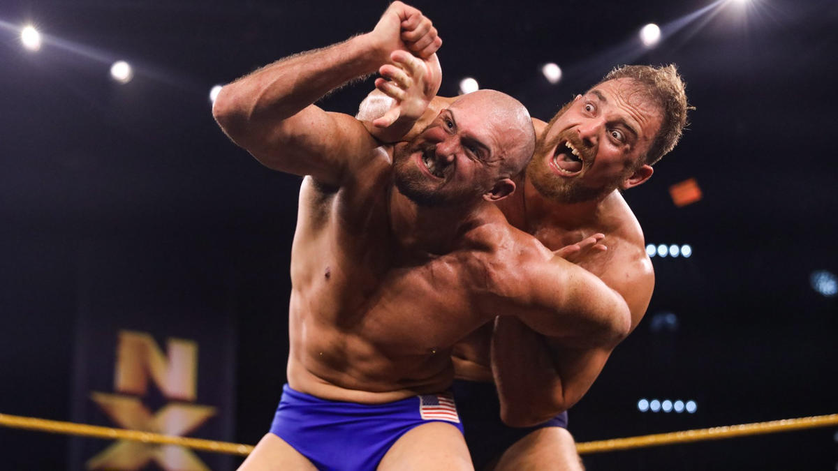Thatcher vs Lorcan in a singles match on NXT