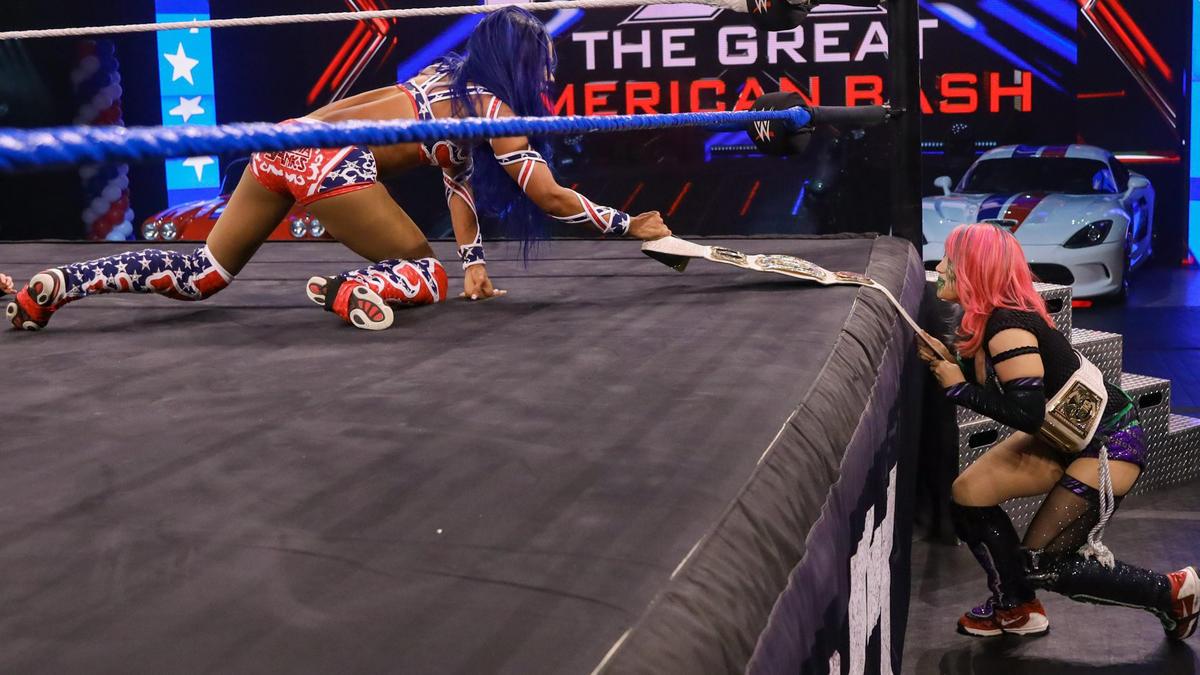 Asuka makes an appearance at The Great American Bash